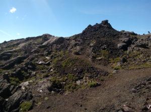 Rocas volcánicas de un cráter parásito