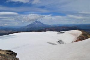 Vista hacia el Volcán Lanin
