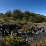 Panorámica sobre volcán villarrica y estero