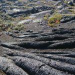Formación de pliegues en lava