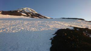 Volcán Lanin al amanecer