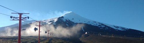 Base volcán Villarrica y su teleférico