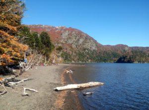 Laguna Huenfuica durante el trekking de las lagunas andinas